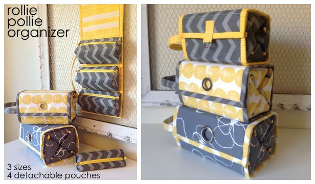 DIY Rollie Pollie Travel Organizer Sewing Pattern