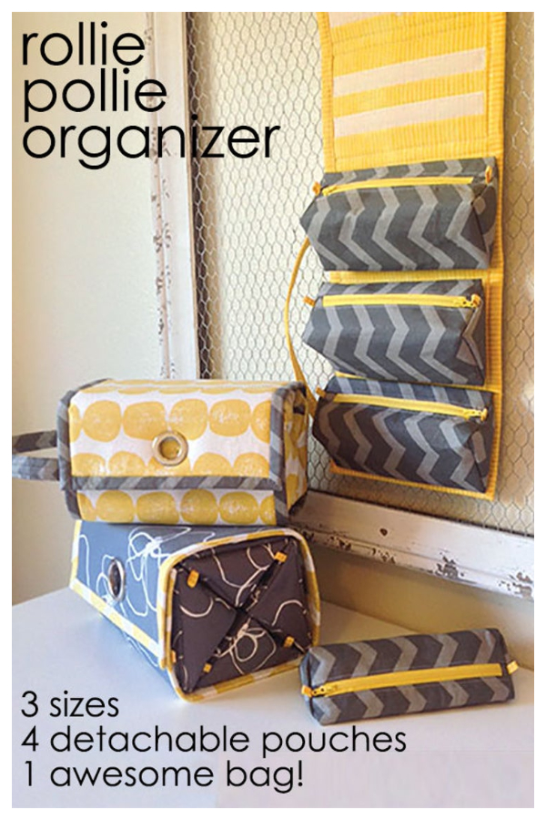 DIY Rollie Pollie Travel Organizer Sewing Pattern