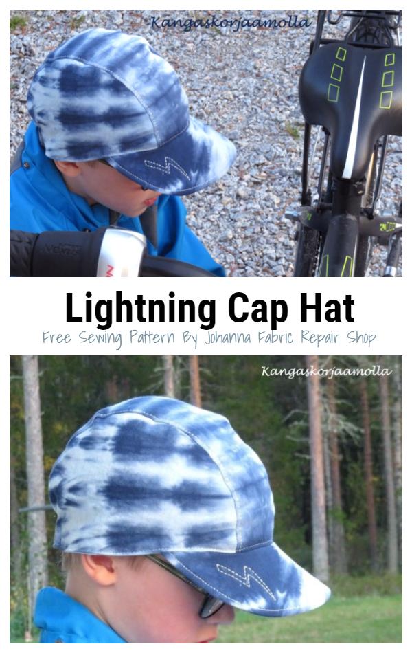 DIY Fabric Lightning Cap Hat Free Sewing Patterns