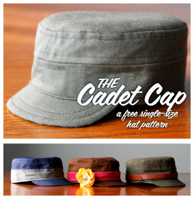 DIY Fabric Cap Hat Free Sewing Patterns