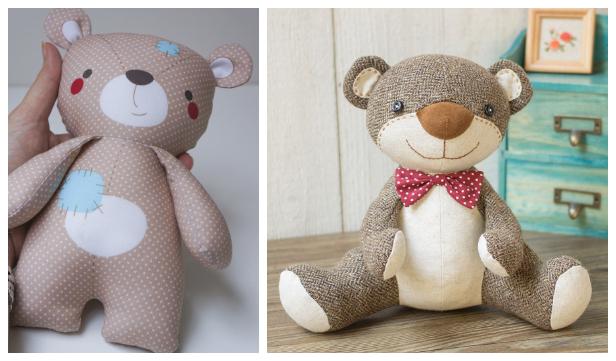 DIY Fabric Teddy Bear Free Sewing Patterns