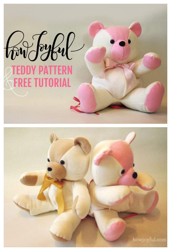 DIY Fabric Teddy Bear Free Sewing Patterns + Tutorials
