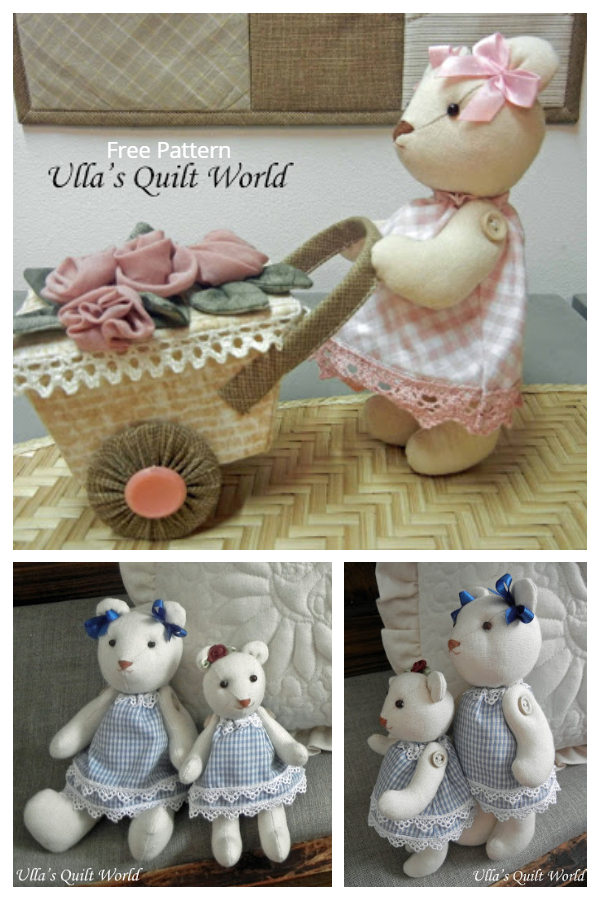 DIY Quilted Teddy Bear Free Sewing Patterns