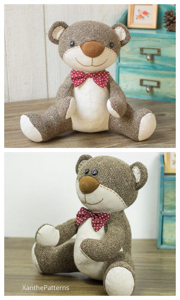 DIY Fabric Teddy Bear Sewing Patterns