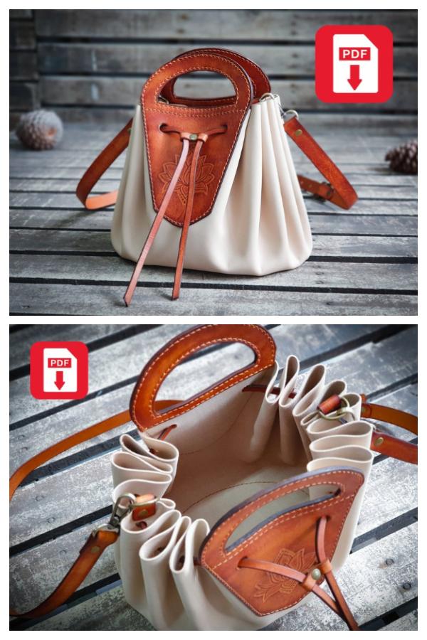 DIY Leather Bucket Bag Sewing Pattern