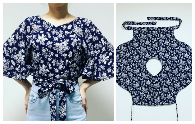 DIY One-Piece Summer Wrap Top Free Sewing Patterns + Video