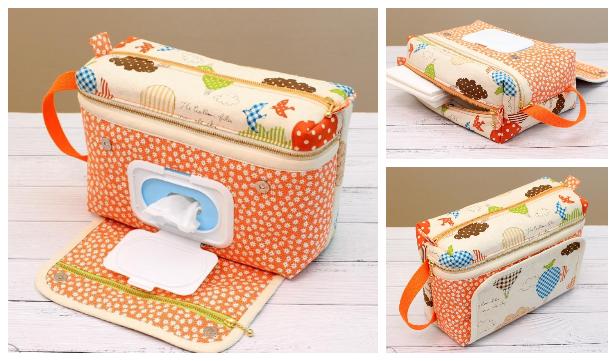 DIY Fabric Diaper Bag Free Sewing Pattern + Video
