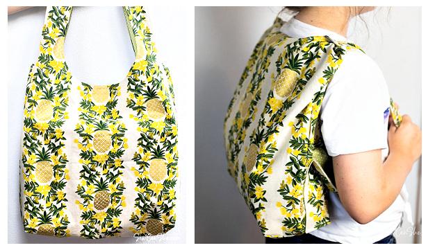DIY Convertible Backpack Tote Bag Free Sewing Pattern