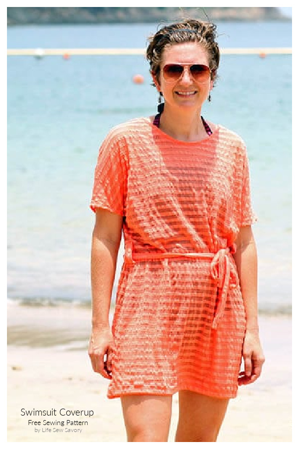 DIY Fabric See through Swim Cover Up Free Sewing Patterns