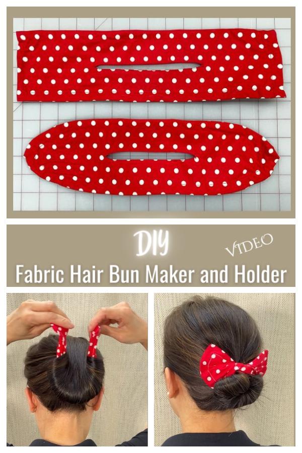 DIY Fabric Hair Bun Maker Free Sewing Patterns + Video