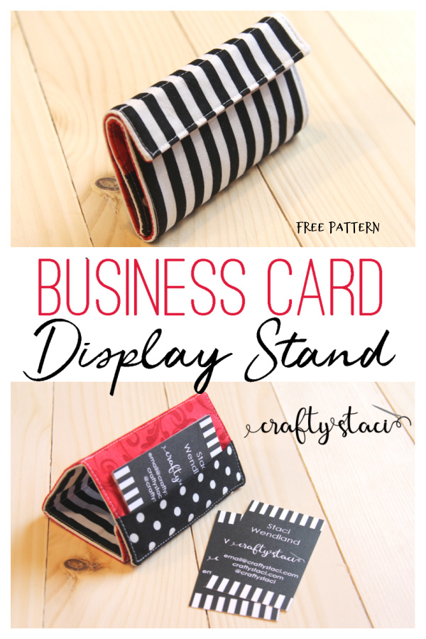 DIY Fabric Business Card Display Stand Free Sewing Pattern