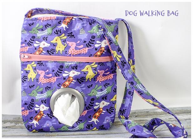 DIY Fabric Dog Walking Bag Free Sewing Pattern