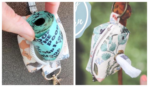 DIY Fabric Dog Poop Bag Dispenser Free Sewing Patterns