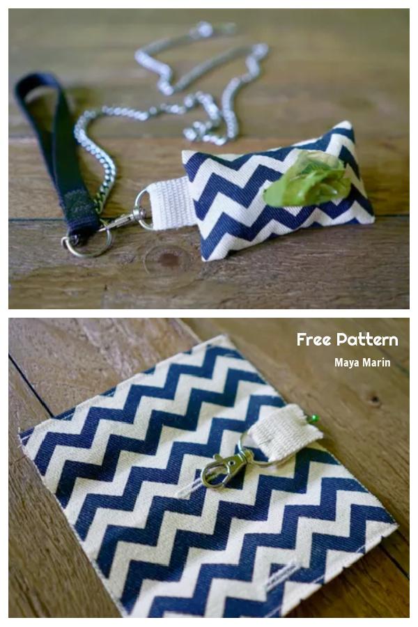 DIY Fabric Dog Waste Bag Dispenser Free Sewing Patterns