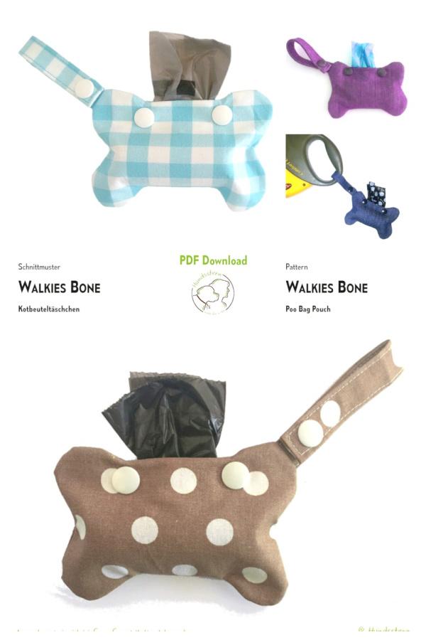DIY Fabric Dog waste bag dispenser Sewing Patterns