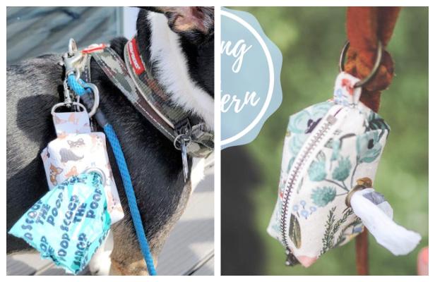 DIY Fabric Dog Waste Bag Holder Free Sewing Patterns