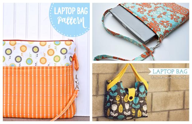 DIY Fabric Laptop Case Bag Free Sewing Patterns