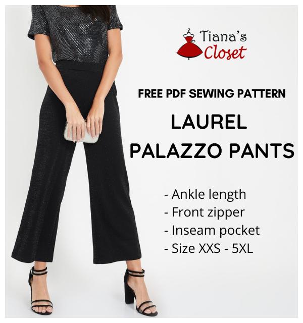 DIY Very Easy Fabric Wide-leg Paper bag Pants Free Sewing Patterns + Video