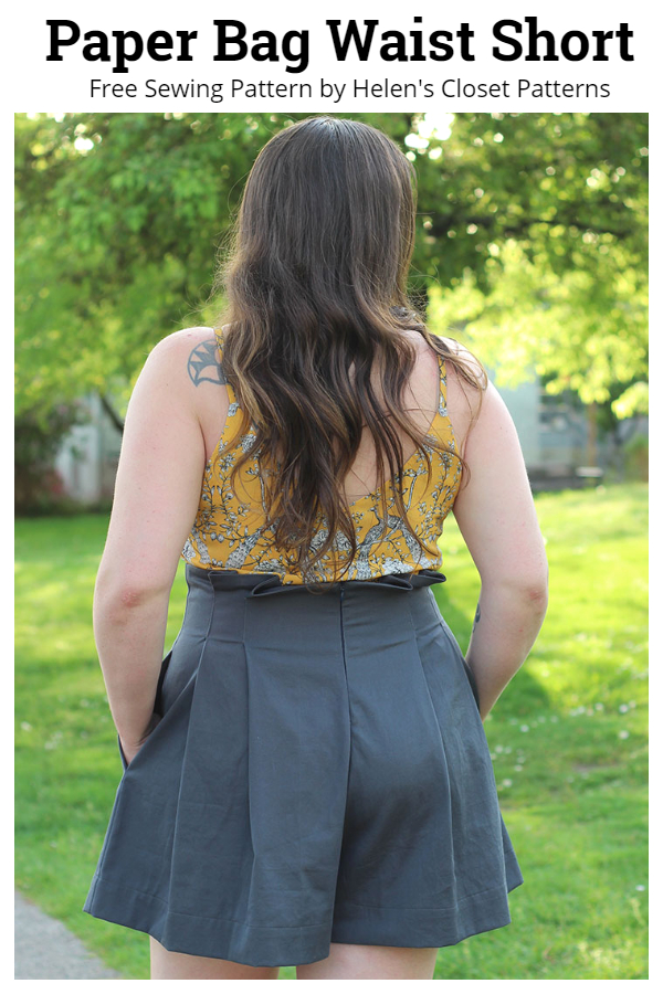 DIY Paper Bag Waist Shorts Free Sewing Patterns
