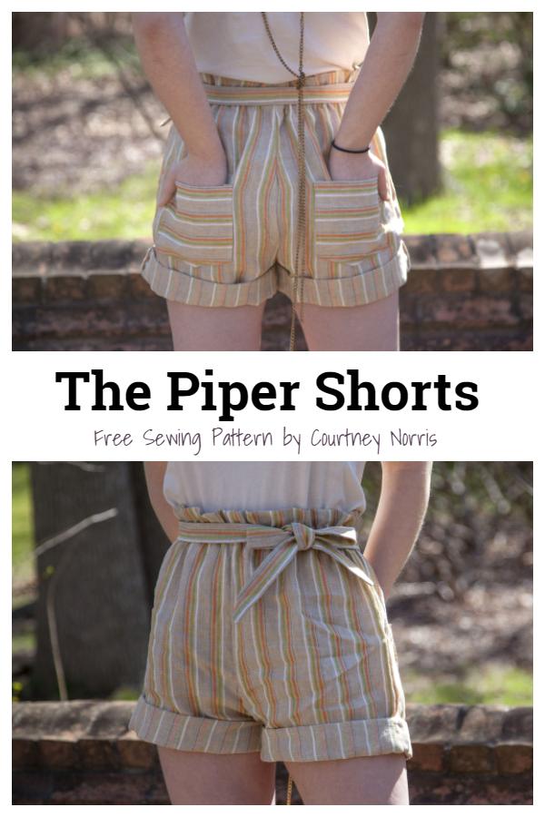 DIY Piper Shorts Free Sewing Patterns