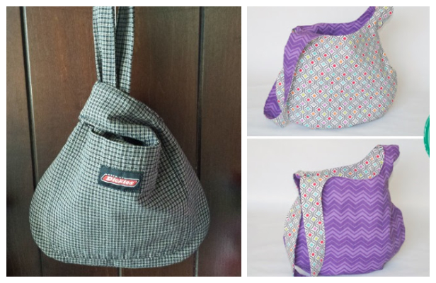 DIY Fabric Japanese Knot Bag Free Sewing Patterns + Video