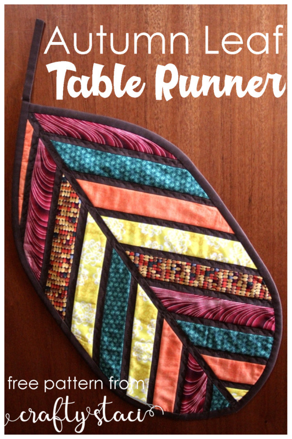 Quilted Autumn Leaf Hot Pad Table Runner Free Sewing Patterns