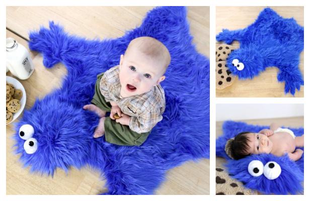 DIY Cookie Monster Rug Free Sewing Pattern