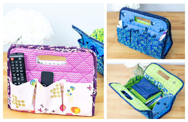 DIY Fabric A-Frame Organizer Free Sewing Pattern