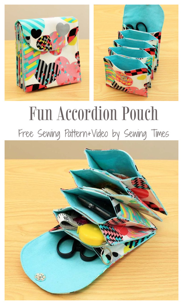 DIY Fabric Accordion Pouch Free Sewing Pattern + Video