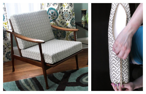 DIY Fabric Box Cushions with Zipper Free Sewing Pattern