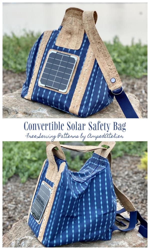 DIY Fabric Convertible Solar Safety Bag Free Sewing Pattern