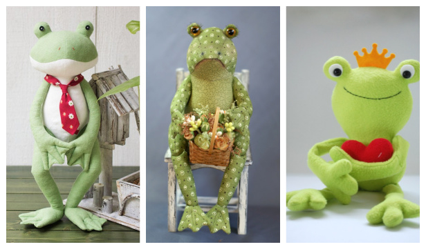 DIY Fabric Frog Toy Free Sewing Patterns