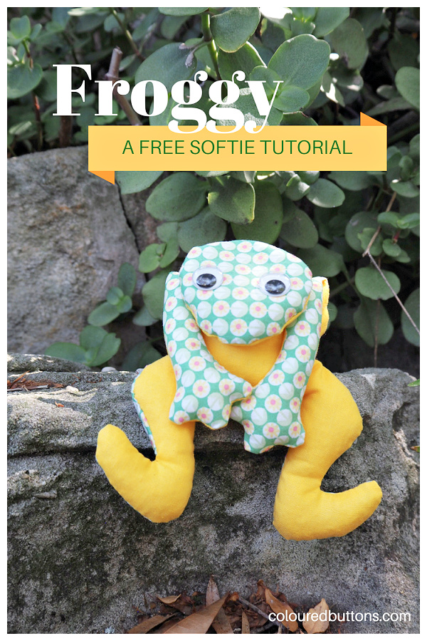 DIY Fabric Ferdinand the Frog Toy Free Sewing Patterns