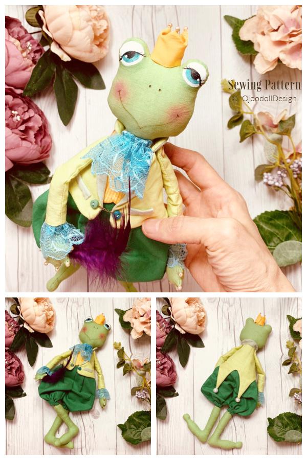 DIY Fabric Rag Doll Frog Prince Sewing Patterns
