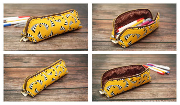 DIY Fabric Open Wide Pencil Case Free Sewing Pattern + Video