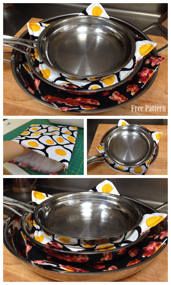 DIY Easy and Stylish Fabric Pan Protectors Free Sewing Patterns