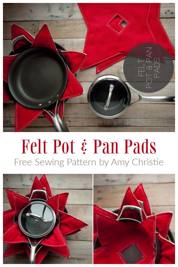 DIY Felt Pot & Pan Pads Free Sewing Patterns