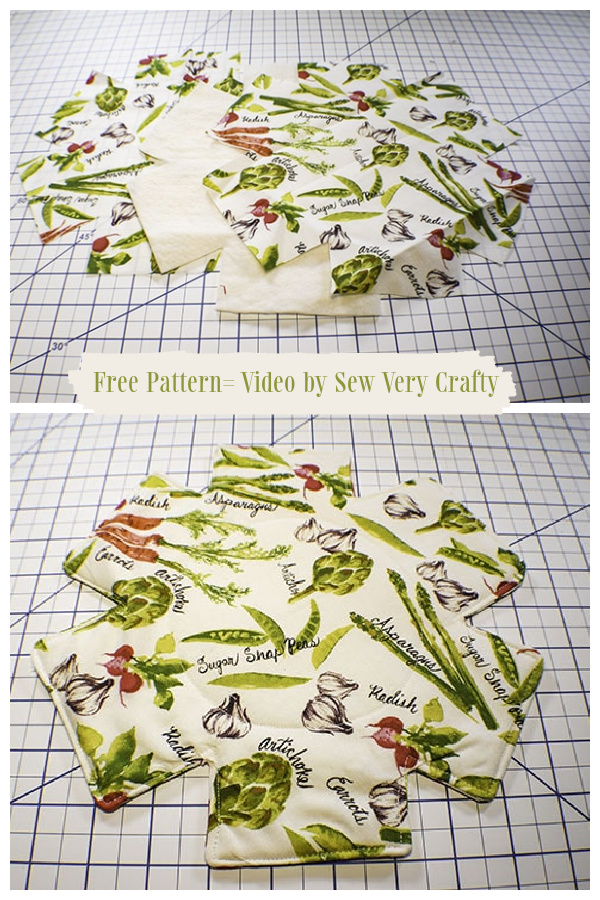 DIY Fabric Pot Protectors Free Sewing Patterns