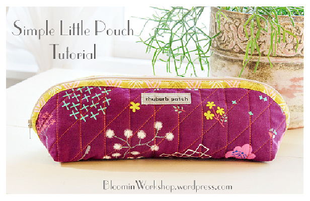 DIY Quilted Little Pouch Free DIY Tutorial – No Pattern Needed