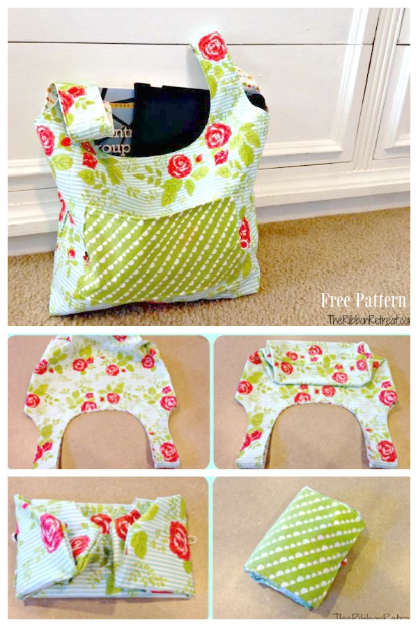 DIY Fold and Go Market Bag Free Sewing Pattern