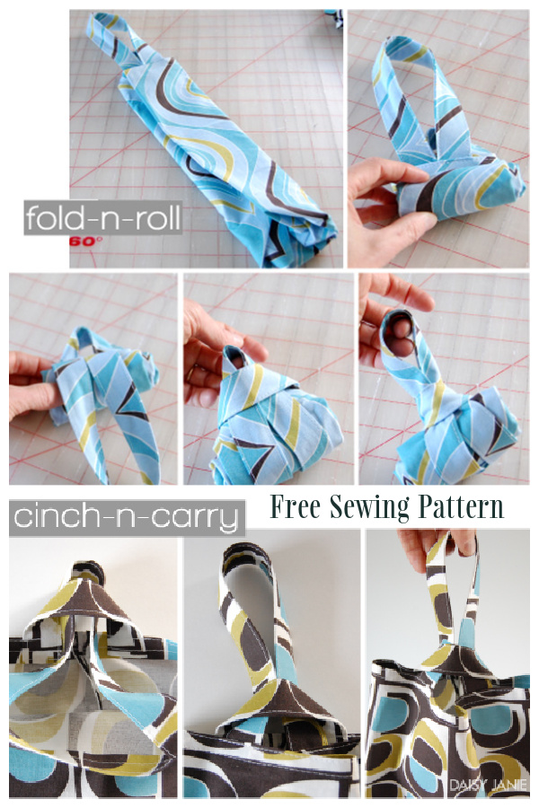 DIY Easy Foldable Knot Shopping Bag Free Sewing Patterns