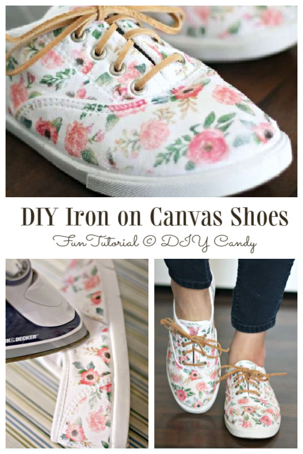 How to Customize Iron On Pattern on White Canvas Sneakers