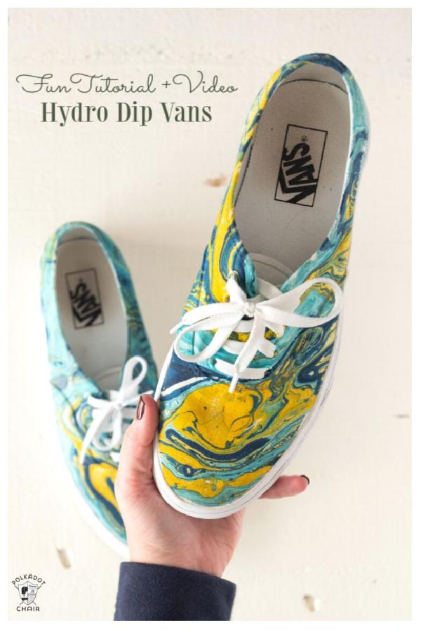 How to Hydro Dip Vans Sneakers Tutorial with video