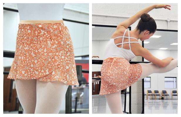 DIY Chiffon Ballet Wrap Skirt Free Sewing Pattern