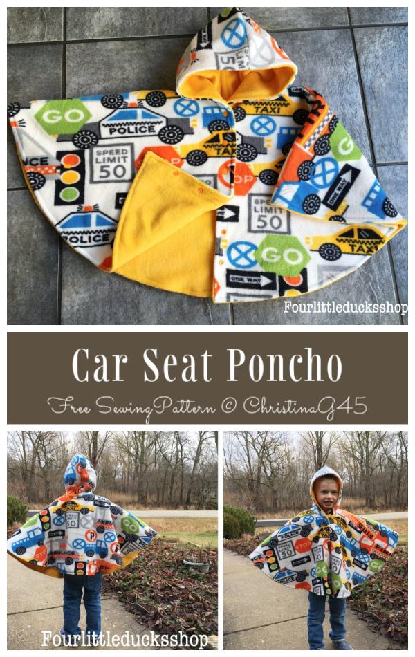 DIY Fabric Car Seat Poncho Free Sewing Patterns