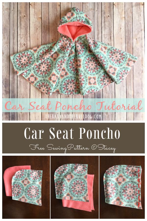 DIY 2-Layer Fleece Car Seat Poncho Free Sewing Patterns