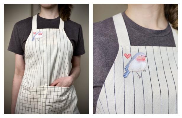 DIY Fabric Cross Back Apron Free Sewing Pattern