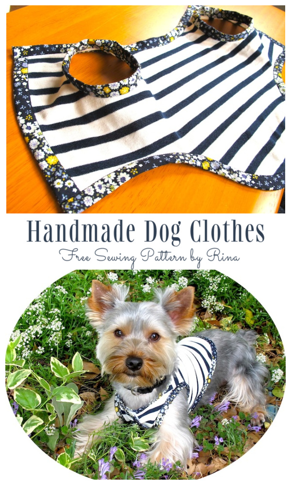 DIY Fabric Girl Dog Coat Free Sewing Pattern