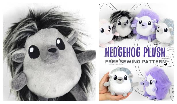 DIY Fabric Hedgehog Plush Free Sewing Pattern