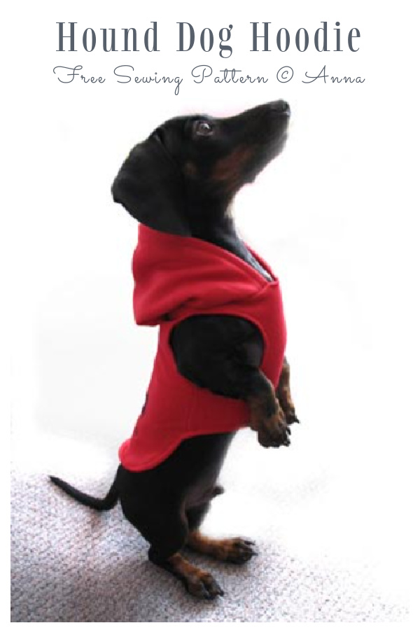DIY Fabric Hound Dog Hoodie Free Sewing Patterns